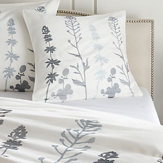 Woodland Blue Euro Pillow Sham