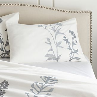 Set of 2 Woodland Blue Standard Pillow Shams