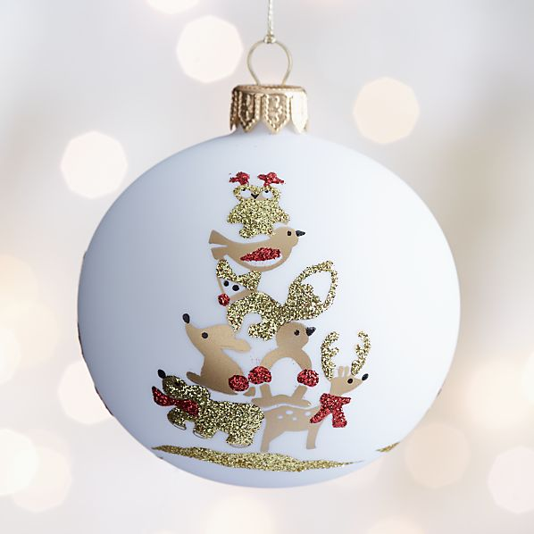 Woodland Creature Tower Ball Ornament