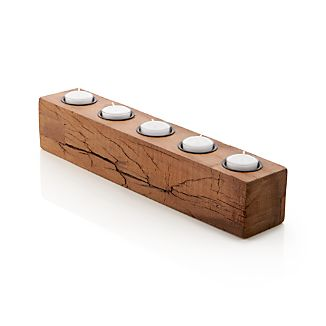 Woodsy Wood Tea Light Centerpiece Candle Holder