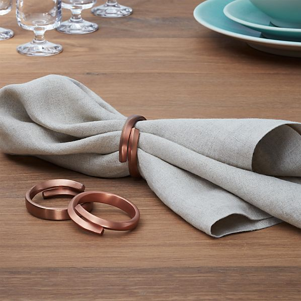 Wrap Copper Napkin Ring