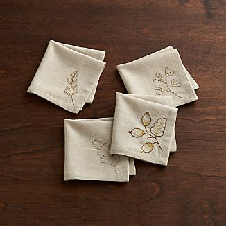 Set of 4 Wren Cocktail Napkins