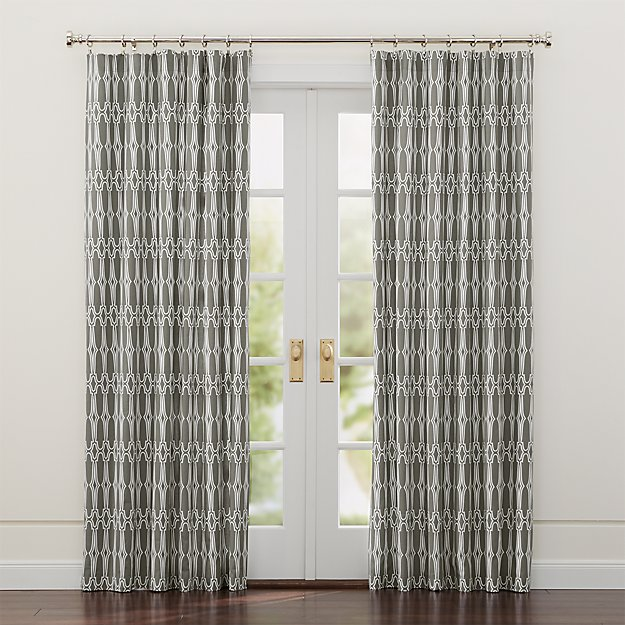 Wrought Iron White and Grey Curtains