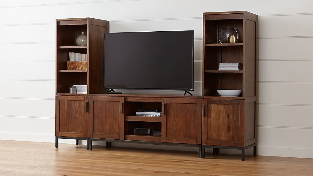 "Wyatt 60"" Media Console with 2 Media Towers"