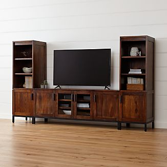 "Wyatt 72"" Media Console with 2 Media Towers"