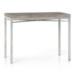 Concrete Top/ Zinc X-Base 48x28 High Dining Table
