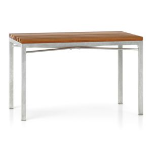 Reclaimed Wood Top/ Zinc X-Base 48x28 Dining Table
