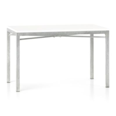 White Top/ Zinc X-Base 48x28 Dining Table