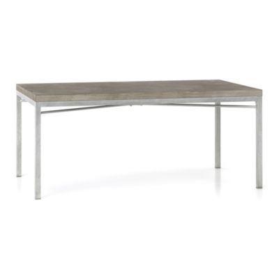Concrete Top/ Zinc X-Base 72x42 Dining Table