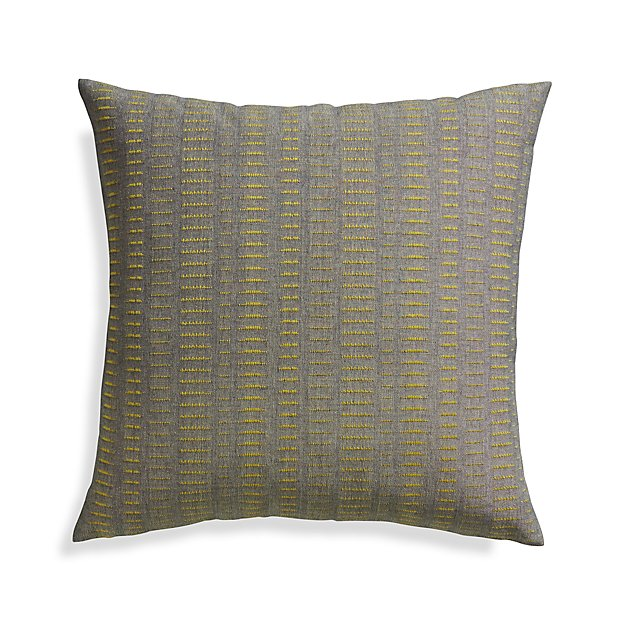 "Yates Yellow 23"" Pillow with Down-Alternative Insert"