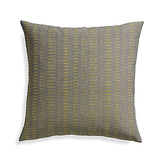"Yates Yellow 23"" Pillow with Feather-Down Insert"