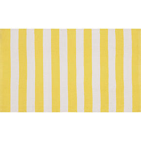 Yellow and White Stripe Rug
