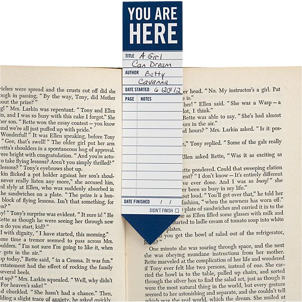 Set of 25 You Are Here Bookmarks