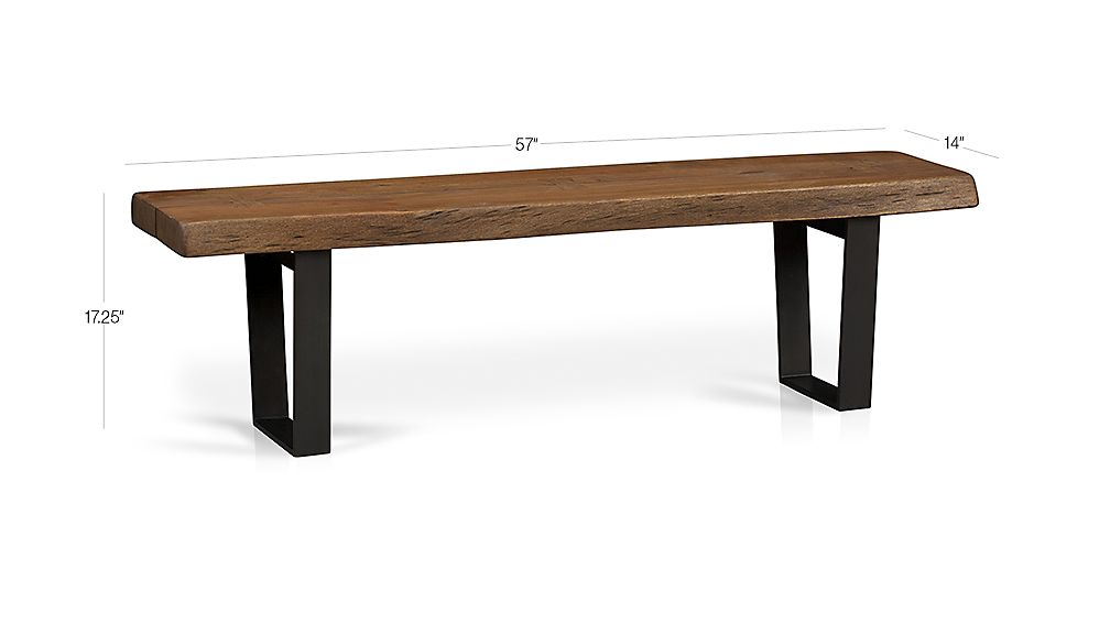 Yukon small coffee table bench crate and barrel for Coffee table crate and barrel
