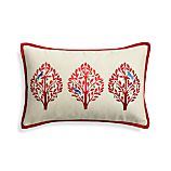 "Yuletide 20""x13"" Holiday Pillow with Feather-Down Insert"
