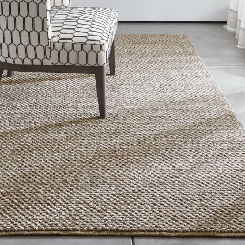 Crate And Barrel Bath Rugs: Yvonne Grey Wool-Blend Rug