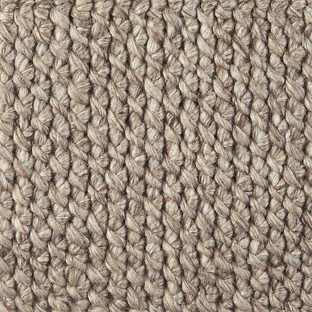 """Yvonne Grey Wool-Blend 12"""" sq. Rug Swatch"""