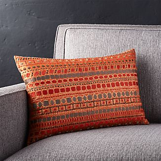 "Zevar Orange 18""x12"" Pillow"