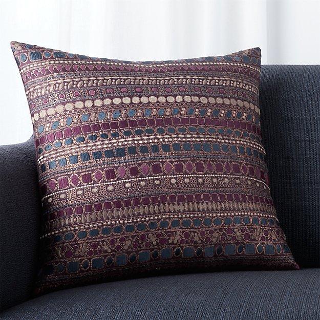 "Zevar Wine 18"" Pillow with Down-Alternative Insert"