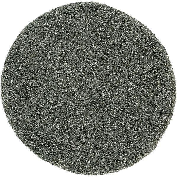 Zia Grey 6' Round Shag Rug