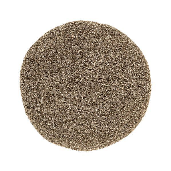 Zia Latte 6' Round Shag Rug