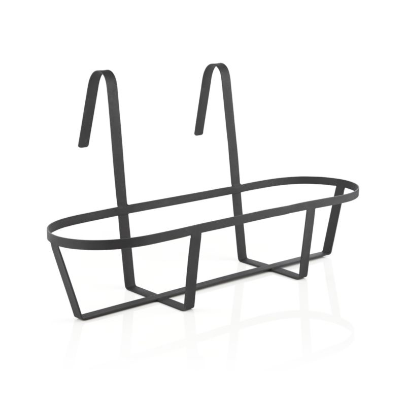 """Optional iron hook holds our Zinc Rectangular Oval planter and easily affixes to railings or fences up to 2"""" wide.<br /><br /><NEWTAG/><ul><li>Iron with powdercoat finish</li><li>Accommodates rails up to 2"""" wide</li><li>Made in Vietnam</li></ul>"""