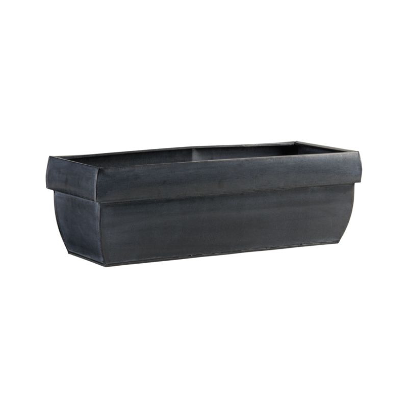 """Wide-rimmed planter in lightweight, zinc-finished galvanized steel lends a touch of industrial sophistication to the garden. Optional iron hook easily affixes to railings or fences up to 2"""" wide (see additional photos). Finish will weather naturally.<br /><br /><NEWTAG/><ul><li>Galvanized steel with zinc finish and lacquer seal</li><li>Planter accommodates three 6"""" pots</li><li>For indoor or outdoor use; bring indoors during freezing temperatures</li><li>Made in Vietnam</li></ul>"""