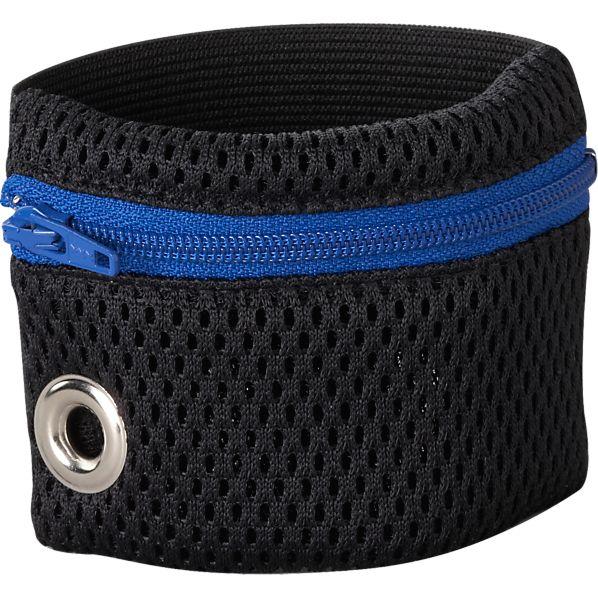 Blue Zip Wristband