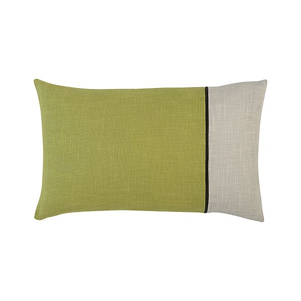 "Zipper Green 20""x13"" Pillow"