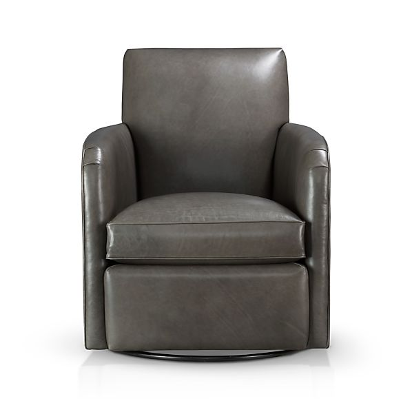Zoe Leather Swivel Chair
