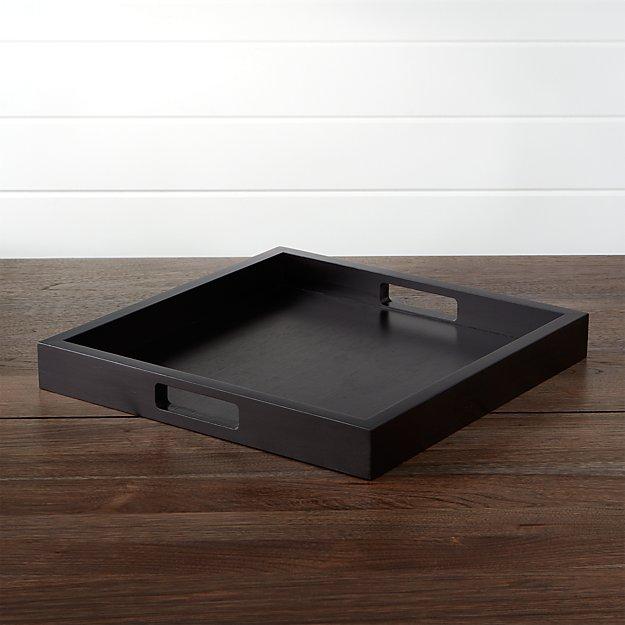 Zuma Square Black Serving Tray Crate And Barrel