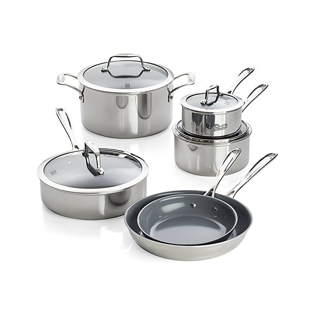 ZWILLING ® J.A. Henckels VistaClad Ceramic Non-Stick 10-Piece Cookware Set