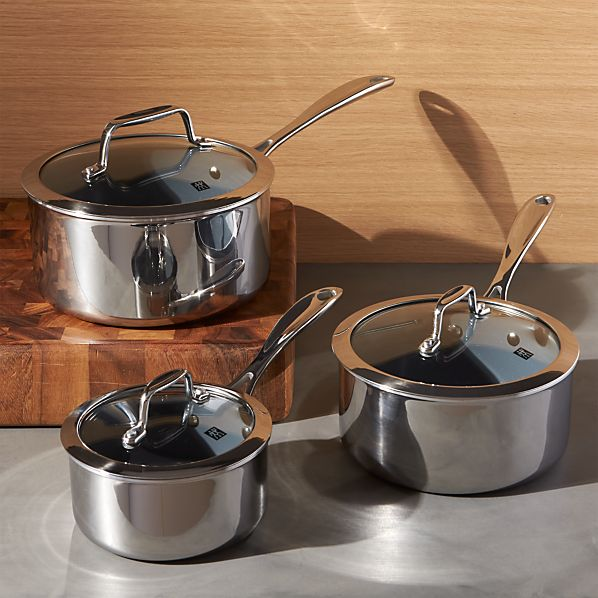 ZWILLING ® J.A. Henckels VistaClad Ceramic Non-Stick Sauce Pans with Lid