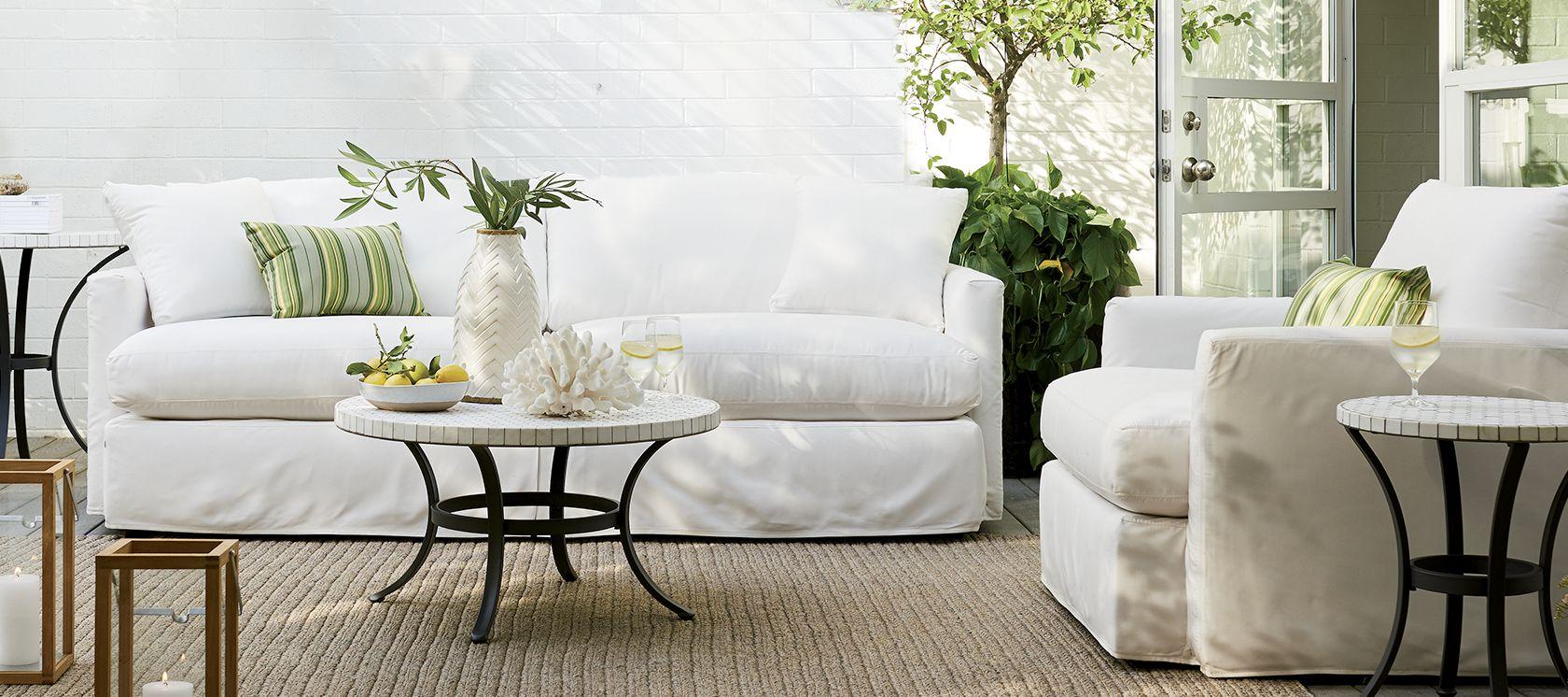 Outdoor Furniture Teak Metal Resin Crate And Barrel