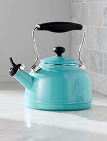 Chantal Cookware Enamel-on-Steel VIntage Teakettle Aqua