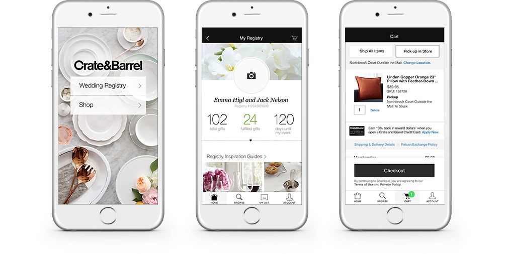 Wedding Gift List App : Wedding and Gift Registry App Crate and Barrel