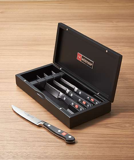 Wusthof Classic 4pc Knife Set in Black Presentation Chest
