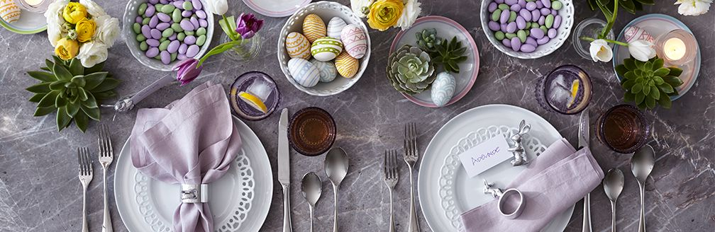 Easter Entertaining. Featured: Easter Table