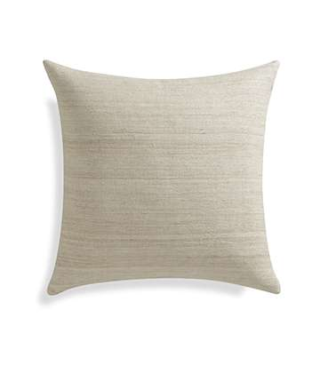 Michaela Sesame 20 inch Pillow with Feather-Down Insert.