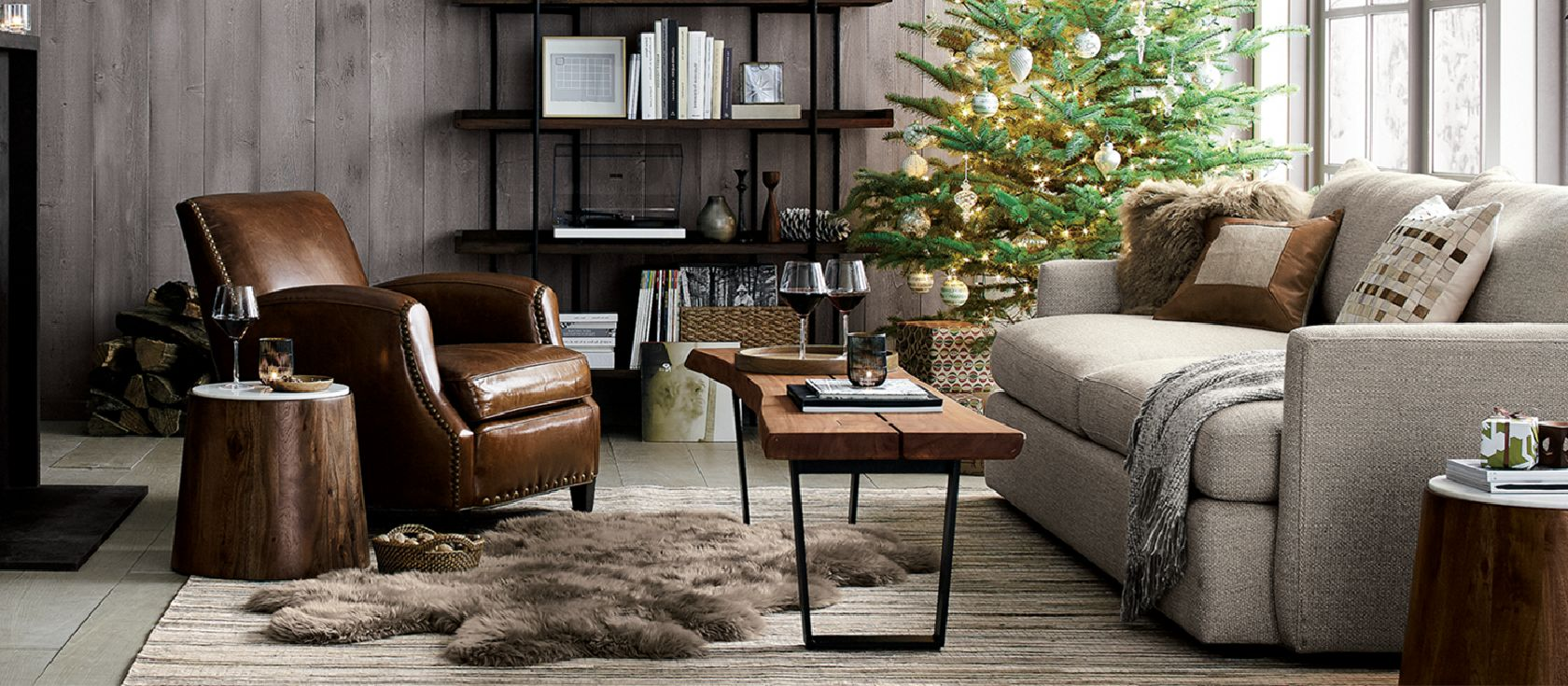 christmas decorations for home and tree crate and barrel. Black Bedroom Furniture Sets. Home Design Ideas