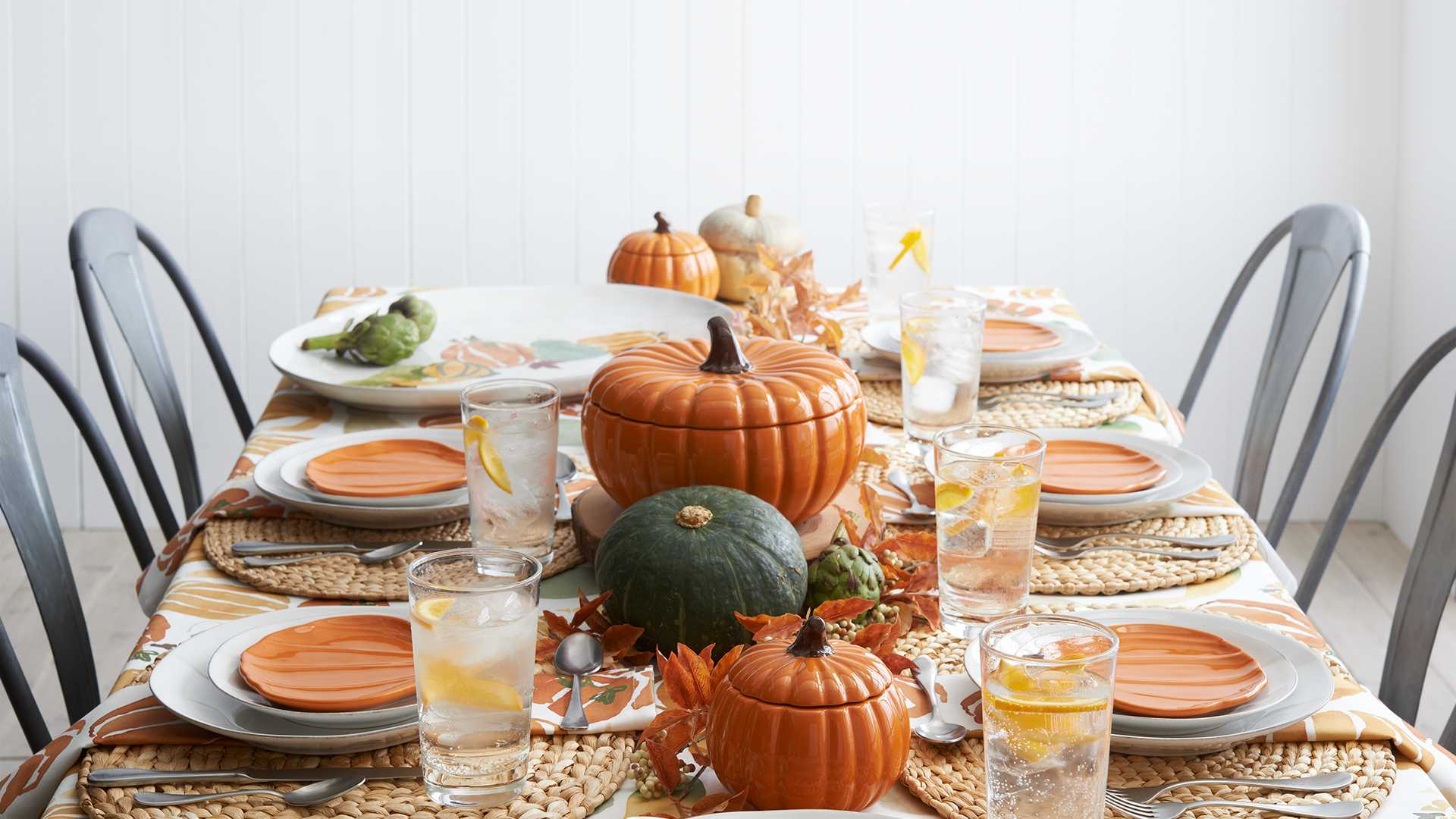 Thanksgiving dinnerware decorations crate and barrel for Decoration thanksgiving
