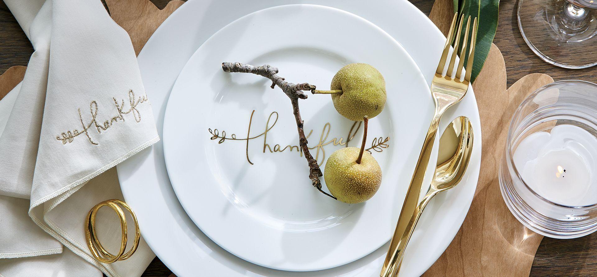 Thanksgiving Dinnerware u0026 Decorations : Crate and Barrel