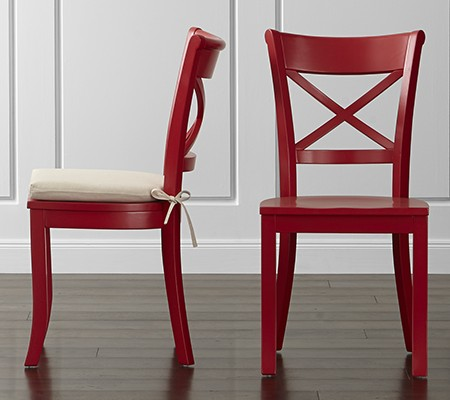 zoomed in photo of Vintner Red Wood Dining Chair and Cushion