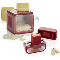 Microplane Red Garlic Cutter and Red Cube Grater