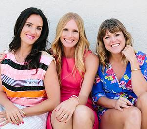 Founders of 100 Layer Cake Jillian Clark, Amanda Dawbarn and Kristina Meltzer