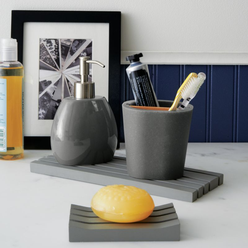 Dark Grey Bathroom Accessories. Dark Grey Granite Raffia Bathroom ...