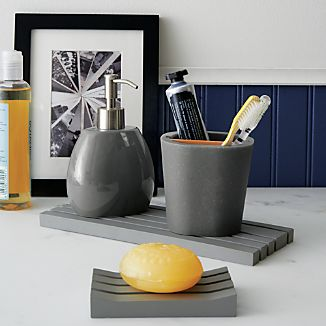 Grey Bath Accessories