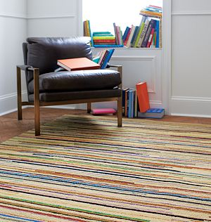 Savoy Cream Striped Hand Knotted Wool 8