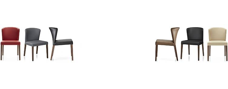 Curran Dining chairs in six different colors.