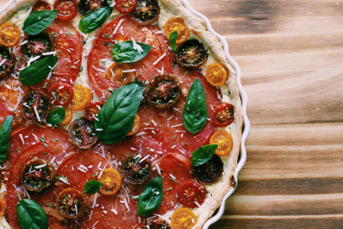 Heirloom Tomato and Ricotta Tart Recipe